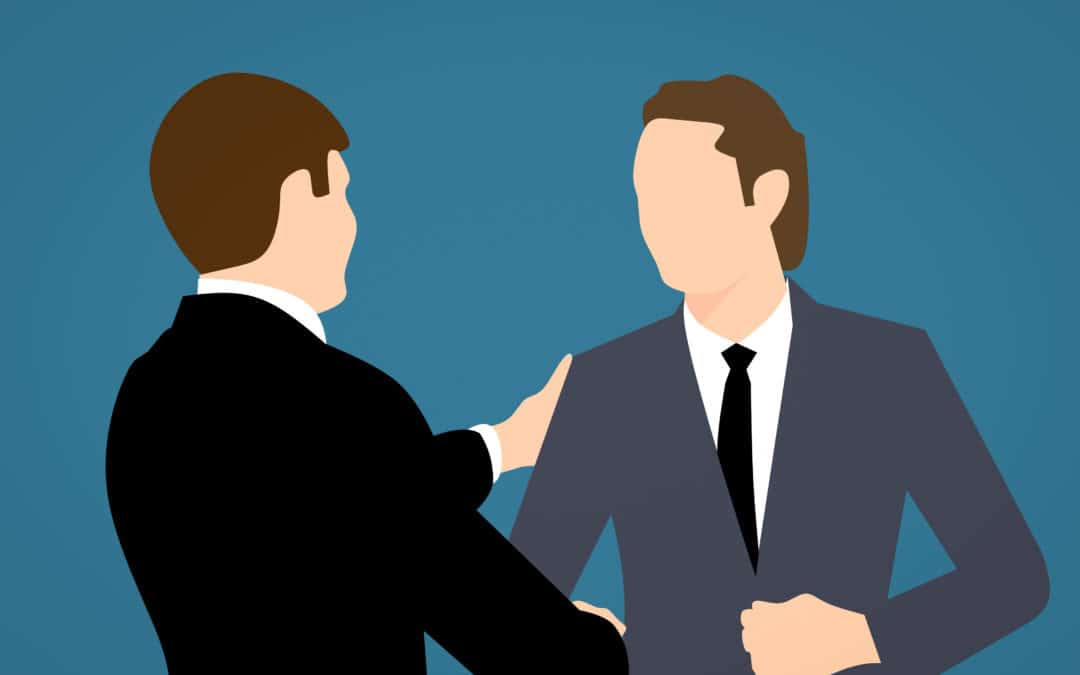 Online-Vertriebsberatung - Kundenansprache: Bild zeigt Vertriebler wie er seinen Kunden anspricht