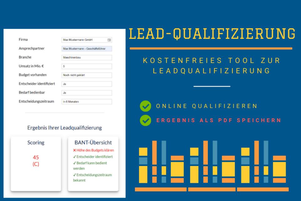 Dieses Bild zeigt das kostenfreie Tool zur Leadqualifizierung