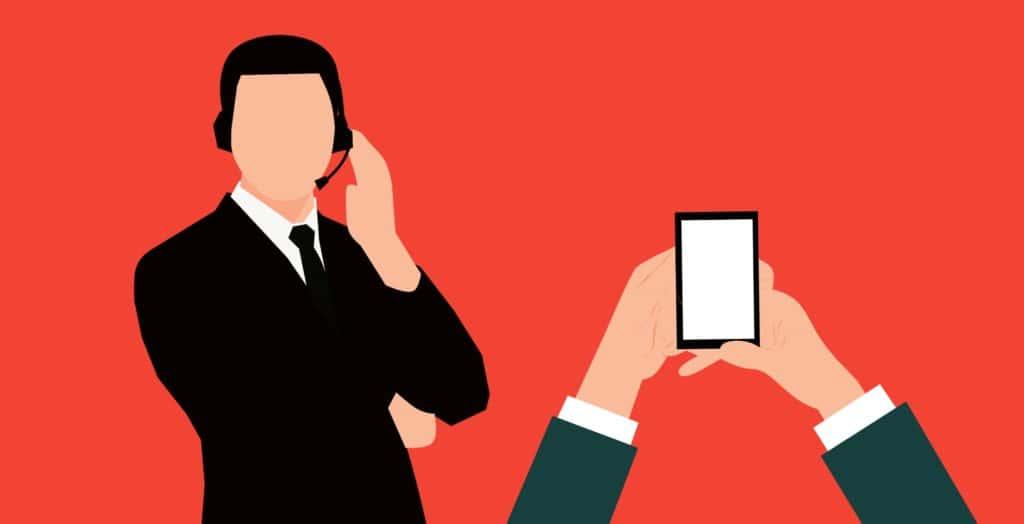 Online-Vertriebsberatung - Bild zeigt Telefonakquise in Action