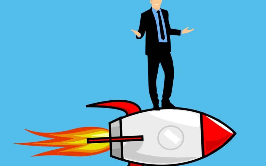 Neukundengewinnung: Dieses Bild zeigt einen Geschäftsmann der neue Wege geht