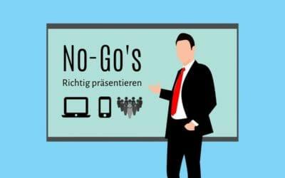Richtig Präsentieren – No-Go's, die aber häufig vorkommen