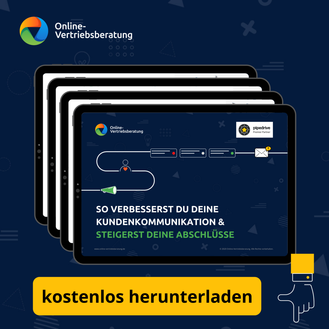 Online-Vertriebsberatung | Kundenkommunikation verbessern und Abschlüsse steigern E-Book zum kostenlosen Download jetzt verfügbar