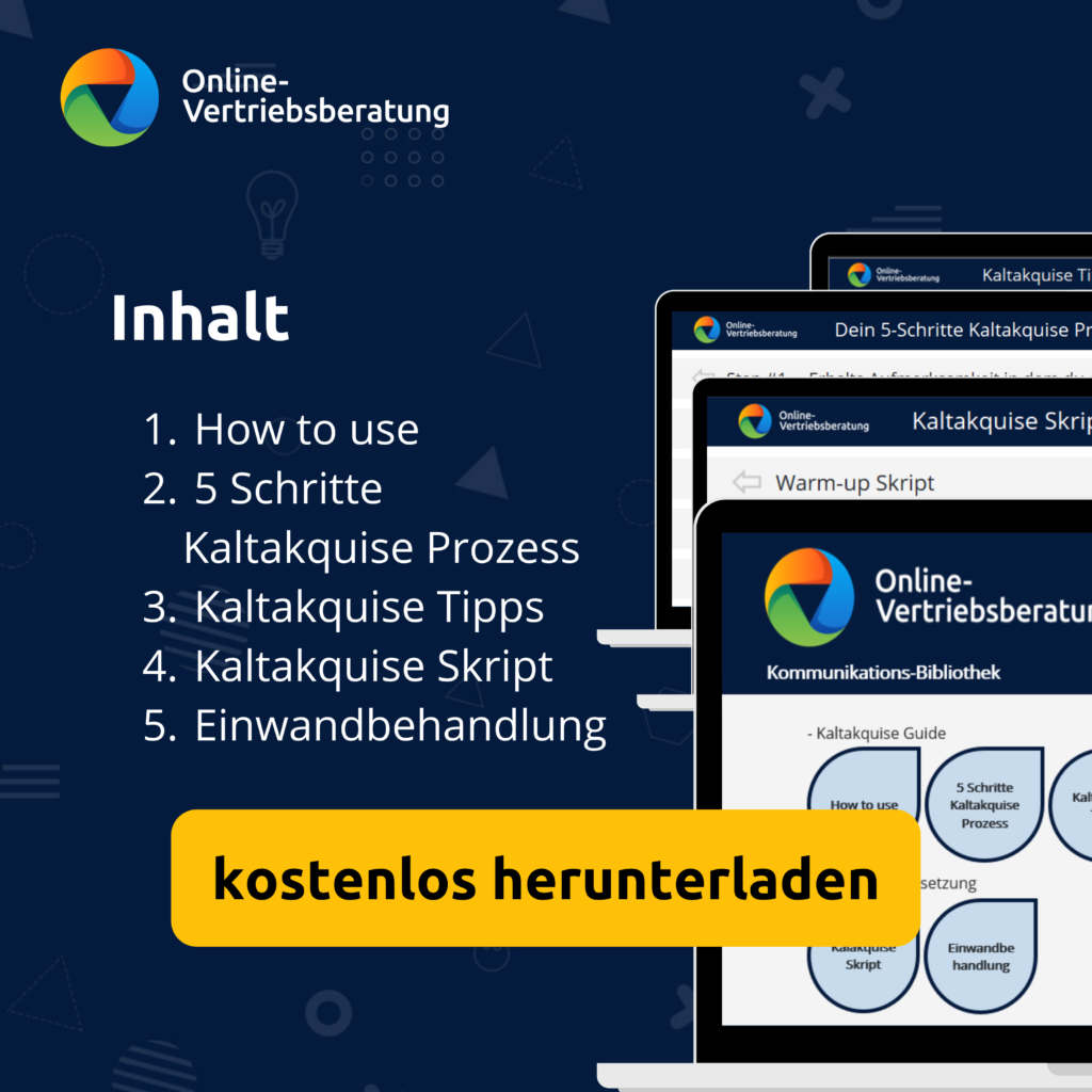 Online-Vertriebsberatung | Kaltakquise Guide. Telefonleitfaden für die telefonsiche Kaltakquise