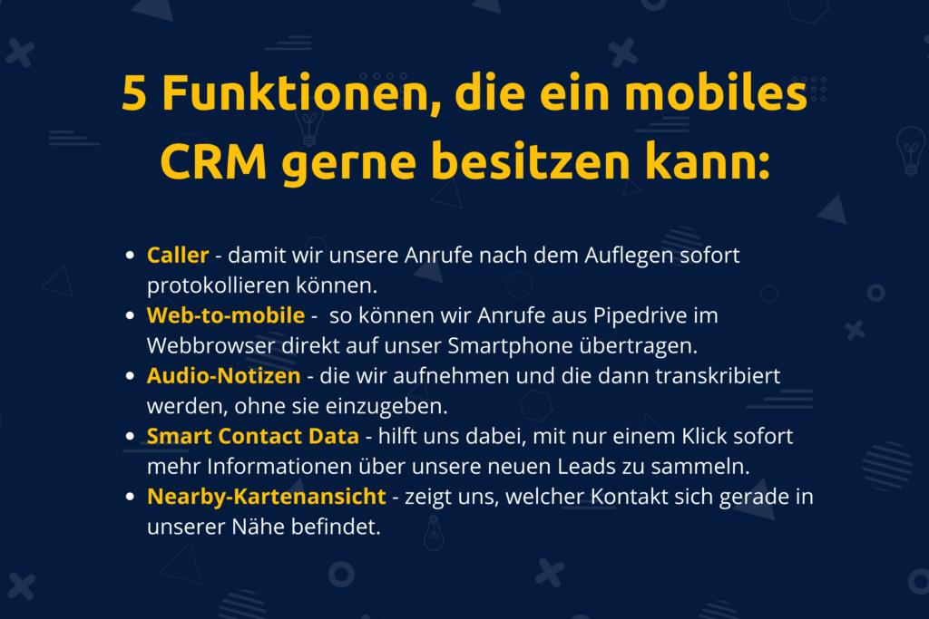 Online-Vertriebsberatung - Moderne mobile CRM Tools besitzen diese Funktionen
