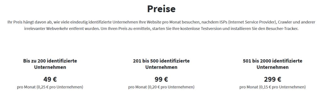 Online-Vertriebsberatung - Webbesucher Pipedrive Add-on Preise