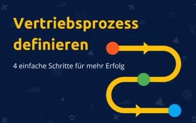 Vertriebsprozess definieren mit Pipedrive – 4 einfache Schritte deinen Vertrieb erfolgreich zu systematisieren